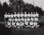 Smart Studio photograph of the Santa Ana Junior College women's field hockey team