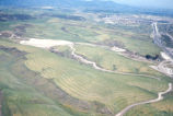 [Aerial view of Crown Valley Parkway area of Mission Viejo, 1968 slide].