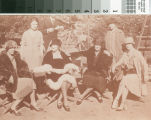 Mary Louise Brand and several woman sitting on directors chairs