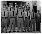 Upland Photograph Public Services; Upland Police Department: 16 officers standing at the entrance to Upland City Hall / Corlyn Frank Joines