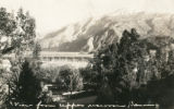 "Photographic postcard of the """"Upper Reservoir"""" in Banning, California"