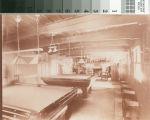 Lodge basement pool tables