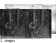 Doing Band Saw Work on Pattern, Ship Building Co., Port Arthur, Ont.