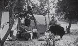 B.F. Conaway photograph of campers at San Juan Hot Springs