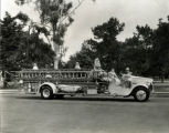 Coronado Fire Department's 1928 Mack quadruple combination fire engine on parade, circa 1929