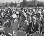 Photograph of the crowd from the E. Guy Warren Hall Commemorative Dedication Ceremony.