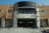 Construction of what appears to be the library at the Contra Costa Campus