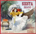"Crate label, ""Siesta Brand."" Arlington Heights Fruit Company. Riverside, Calif."