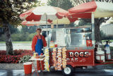 The hot dog stand on campus