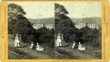 Eadweard Muybridge stereoscopic photograph of Mills Hall