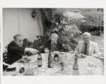 Photograph of Pierre Boulez, Nicolas Slonimsky and David Raksin