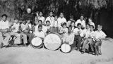 The St. Boniface Indian/Industrial School Band with Father Gerard in Banning, California