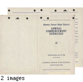 1942 commencement  exercises program