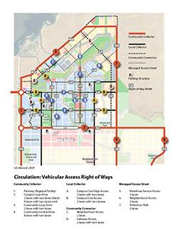 Circulation: Vehicular Access Right of Ways, UC Merced Long Range Development Plan