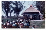 Photograph of dedication of Snack Shack
