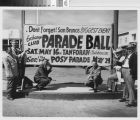 Poster for the Posy Parade and Ball with members of the Exchange Club, 1953