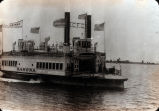 """Image of the ferry boat """"Ramona"""" in San Diego Bay, circa 1903"""