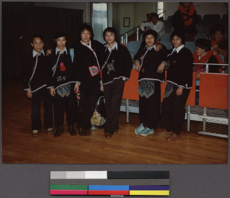 Young Mien Men In Traditional Clothing