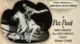 """Pat Siva, Banning, California celebrity cowgirl and her horse, """"""""Peppy"""""""""""