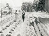 The Kraft Family in their garden at the Gilman Ranch in Banning, California