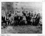 Photograph of celebration at the completion of Flume # 7 by the Cajon Canal Co.