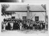 Turlock Japanese Americans gather for yearly New Year's photo, 1939.