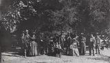 B.F. Conaway photograph of group at Five Oaks at San Juan Hot Springs