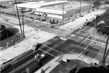 A public works project at Slauson Avenue and Eastern Avenue in Commerce