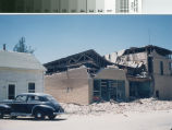 Tehachapi Radio Electric dealership after 1952 earthquake