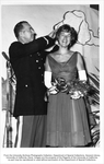 Military Science, Lt. Col. Donn Yoder crowning Military Ball Queen Jan Hill