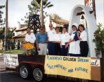 Photograph of Placentia Historical Committee's parade float.