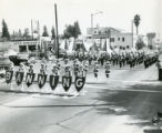 Banning High School Marching Band in parade on Ramsey Street in Banning, California