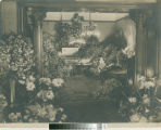 Leslie C. Brand's casket in drawing room