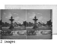 Bartholdi Fountain & U.S. Capitol from Botanical Gardens, Washington. D.C.