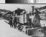 Lee Street Locale engine No. 6 and train at the Mill Valley Depot