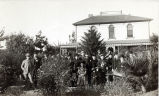 Family in Front of Lightfoot House, South Pasadena, about 1890