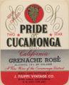 Filippi Winery wine label - Pride of Cucamonga