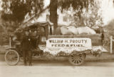 William H. Prouty float in parade in downtown Banning, California in 1917-1919