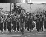 Hillsdale High School band in parade