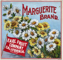 "Crate label, ""Marguerite Brand."" Earl Fruit Company, California."