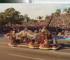 """[""""Baubles, Bangles and Beads"""" 1980 Rose Parade float from Mission Viejo photograph]."""