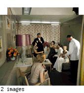 Color transparencies: posed interior shots (color interiors 1950s)
