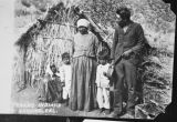 An unidentified Native American family on the Morongo Indian Reservation bordering Banning, California
