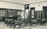 Interior of an early Cabazon schoolhouse classroom