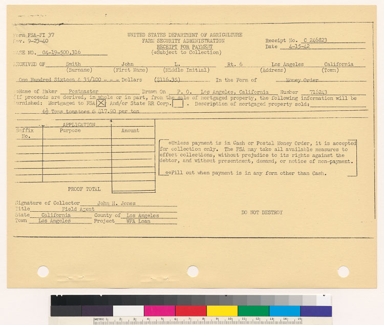 Farm Security Administration Reports And Miscellaneous Documents 1942 1943
