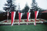 Slide of the flags of the colleges