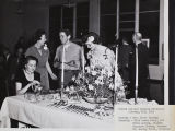 Opening reception in library, Citrus Junior College, Fall 1949