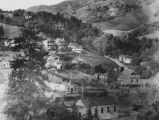 Mill Valley aerial view looking directly at the present Lytton Square