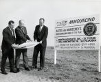 Officials Reviewing South Pasadena's Altos de Monterey Housing Development Plans, ca 1964