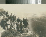 Visitors from railroad trip photographed atop Mount Tamalpais